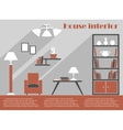 House interior design infographic template vector image vector image