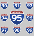 INTERSTATE SIGNS 90-99 vector image vector image