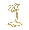 Island with a palm vector image vector image