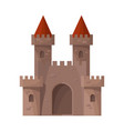 isolated object castle and fortress logo vector image