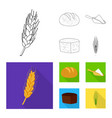 isolated object of agriculture and farming symbol vector image