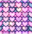 light pink hearts shining seamless pattern vector image vector image