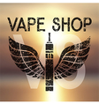 logo for vape shop vector image vector image