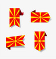 macedonian flag stickers and labels vector image vector image