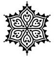 mehndi indian henna tattoo design - star shape vector image