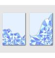 Modern polygonal design template leaflets flyers vector image vector image