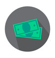 money banknotes outline icon - minimal cash vector image vector image