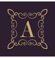 Monogram letter A Calligraphic ornament Gold vector image