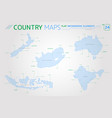 new zealand australia indonesia india and south vector image vector image