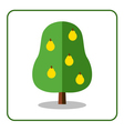 Pear tree icon vector image vector image
