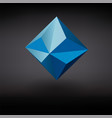 realistic a blue faceted gemstone vector image