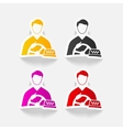 realistic design element taxi driver vector image vector image
