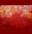 red blur abstract background with light in modern vector image vector image