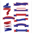 Ribbon flag American vector image