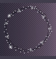 round frame made of christmas lights sparkling vector image vector image