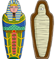sarcophagus vector image