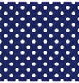 Seamless pattern white polka dots navy background vector image vector image