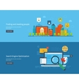 Set of flat design concepts vector image