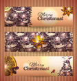 Set of horizontal Christmas banners vector image