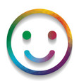 smile icon colorful icon with bright vector image vector image