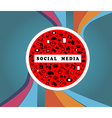SOCIAL MEDIA TRAFFIC SIGN vector image vector image