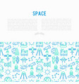 space concept with thin line icons vector image vector image