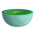 spinach soup icon cartoon style vector image