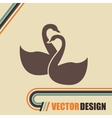 swan isolated design vector image vector image