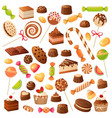 sweet candies candy bonbon lollipop marmalade vector image