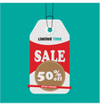 tag sale limited time sale 50 off special discoun vector image vector image