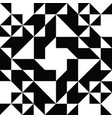 triangle geometric shapes pattern black and white vector image vector image