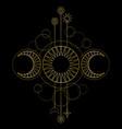 triple moon magic and astronomy symbol vector image