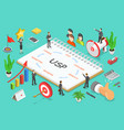 usp - unique selling proposition isometric flat vector image