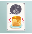 Valentines Day greeting card design with romantic vector image vector image