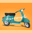 vespa summer holiday vector image vector image