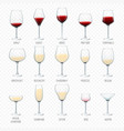wine glass winery alcohol drink and red vector image vector image