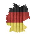Wooden Map And Flag Of Germany vector image