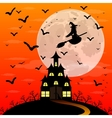 Halloween patty Witch and bats vector image