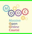 MOOC gears vector image