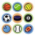 set with sport balls - cartoon vector image