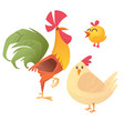 cartoon of rooster vector image