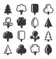 tree icon set on white background vector image
