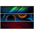 abstract hi-tech futuristic banner set vector image
