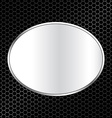 Abstract metal texture background with oval frame