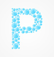 Alphabet Letter P vector image vector image