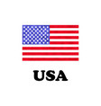 american flag on a white background vector image vector image
