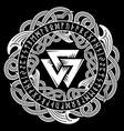 ancient celtic scandinavian pattern scandinavian vector image vector image