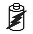 battery energy icon vector image vector image