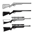 big set hunting guns rifles design element vector image vector image