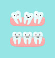 braces alignment stomatology concept cute vector image vector image